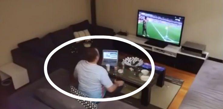 pomsta manzelka manzel televizor futbal