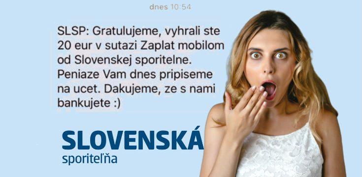 slovenska sporitelna sms sranda vyhra