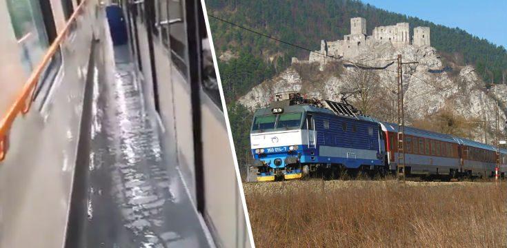 zsr vlaky povodne poziar