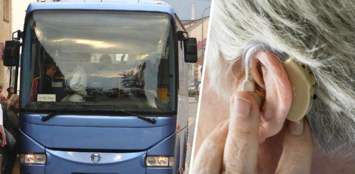 hlucha nepocujuca zena autobus problemy