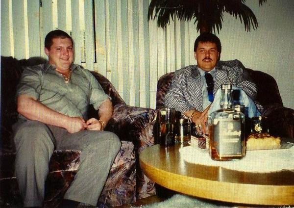 Mikuláš Černák s bratom Vladimírom, ktorý zahynul pri autonehode v tom istom roku ako 25-ročný.
