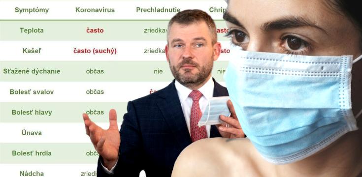 koronavirus priznaky chripka prechladnutie