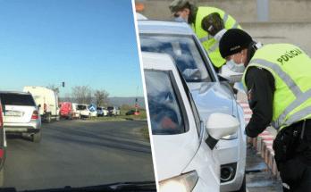 slovensko na cestach kolaps zapchy zakaza vychadzania