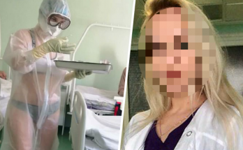 nadia ruska sestra pracovala v plavkach priesvitny ochranny oblek