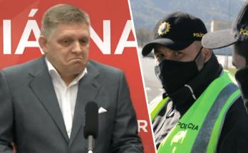robert fico smer tlacovka bez ruska policia reaguje