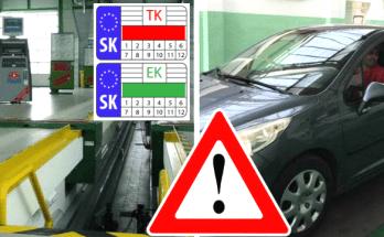 stanica technickej kontroly TK EK slovensko novinka nalepky