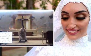 bejrút nevesta video kňaz výbuch libanon